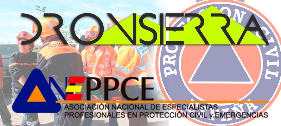 Acuerdo entre  DRONSIERRA y ANEPPCE Asociación Nacional de Especialistas Profesionales en Protección Civil y Emergencias