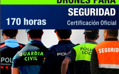 Curso PILOTO DE DRONES Especialista en Seguridad mediante DRONES / UAS / RPAS